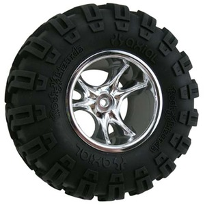 "하비몬""Clawz"" 2-2"" Wide Rock Crawler Wheels (Chrome) (2)[상품코드]RPM"