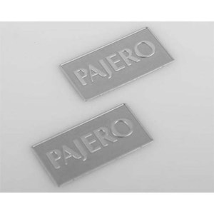 하비몬1/10 Metal License Plate for Tamiya CC01 Pajero (Silver)[상품코드]CCHAND
