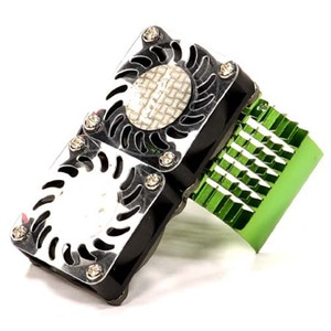 하비몬Super Motor Heatsink+Twin Cooling Fan 750 for Traxxas Summit (Green)[상품코드]INTEGY