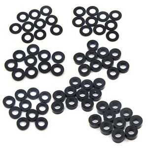 하비몬Aluminum M3 Flat Washer 0.25 / 0.5 / 1 / 1.5 / 2 / 2.5 / 3mm 10pcs Set Black[상품코드]YEAH RACING