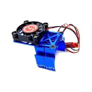 하비몬Aluminum Clip-On Two-Piece Motor Heat Sink Set Blue w/ Fan [상품코드]HOT RACING