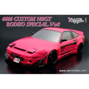 하비몬1/10 180GT Rodeo Special Ver.2 6666 Custom Clear Body Set 180SX w/ Addiction AD010-6 Rocket Bunny Aero Kit[상품코드]ABC HOBBY