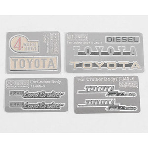 하비몬Complete Metal Emblems Set for RC4WD Cruiser Body[상품코드]CCHAND
