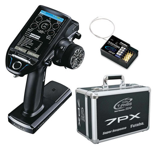 하비몬7PX 7CH 2.4GHz T-FHSS Telemetry Radio System w/R334SBS w/Metal Transmitter Carrying Case [송신기+수신기+캐링백][상품코드]-