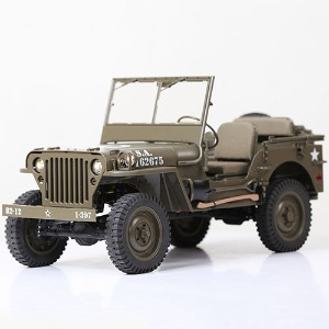 하비몬[#WILLYS RTR] 1/6 4WD 1941 Willys Jeep Military Scaler RTR (조종기 포함)[상품코드]ROC HOBBY