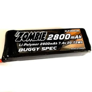 하비몬[#LP28002SL] 7.4V 2800mAh Li-Po Receiver Battery (MBX8|S35-3)[상품코드]TEAM ZOMBIE