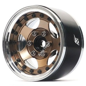 "하비몬[#BRPB001CRBZ] [2개] ProBuild™ 1.9"" SV5 Adjustable Offset Aluminum Beadlock Wheels (Chrome/Bronze)[상품코드]BOOM RACING"