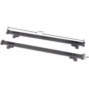 하비몬[#DJ-0710] Aluminum Universal Roof Rack Fixing Rail Cross Bar Set (for Roof Luggage, Storage Box, #TRX6ZSP6-BK)[상품코드]RCMON
