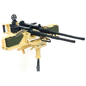 하비몬[#BA-H04] 1/10 Scale Model Twin M2HB Browning .50 Caliber Machine Gun Replica (Standard Ammo Box wo/ Shield)[상품코드]BA MODEL STUDIO
